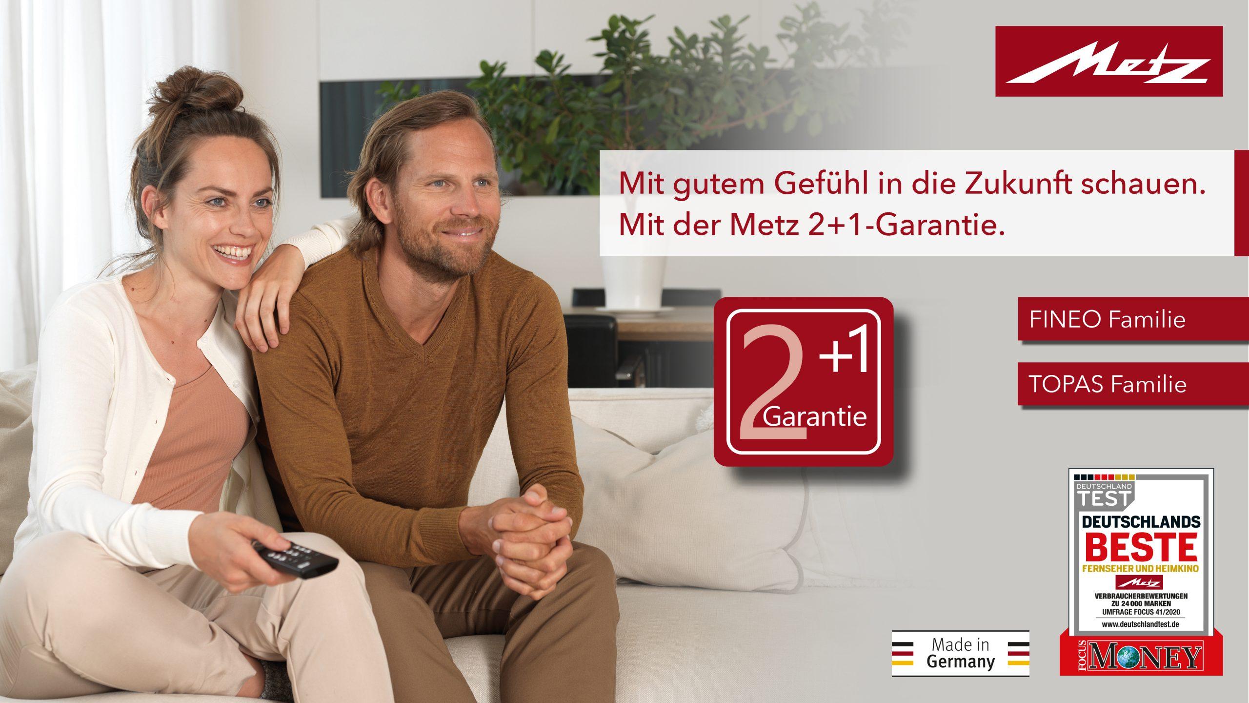 Metz Topas Fineo 2+1 Garantie